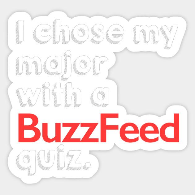Buzzfeed College Quiz College Sticker Teepublic