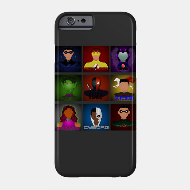 Teen Titans Go Robin Cyborg Starfire 2 iphone case