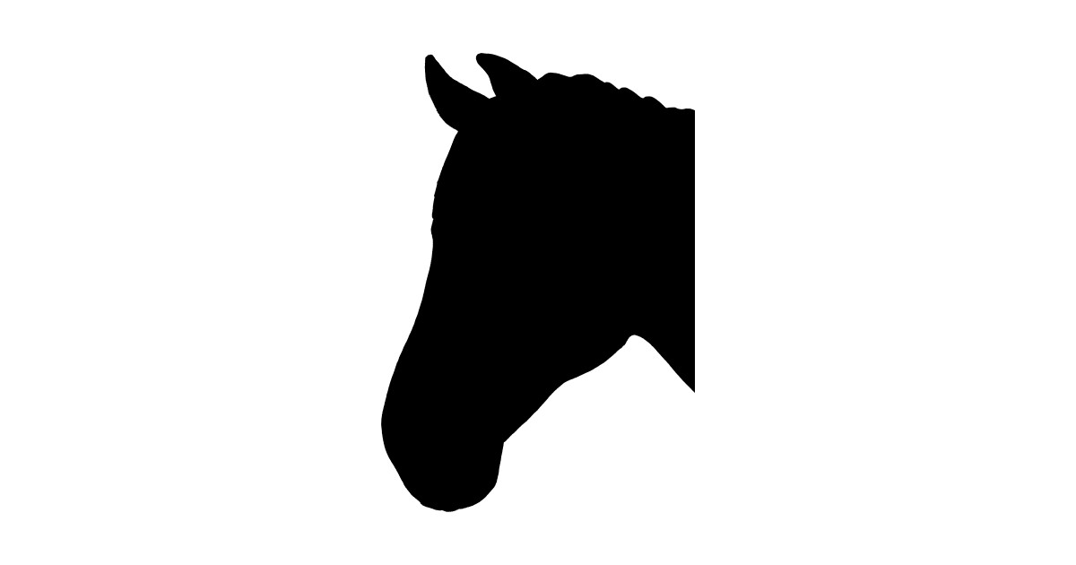 Images of horse head silhouettes