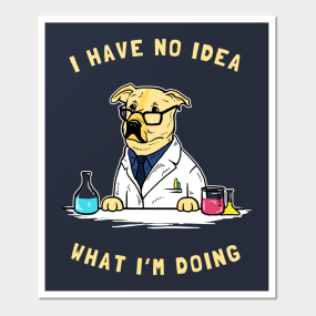 funny dog scientist posters and art prints teepublic