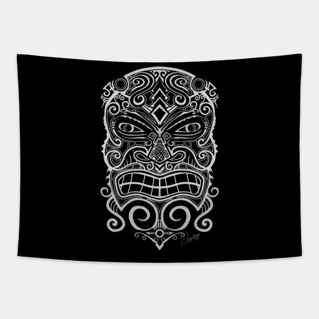 cd592b2d5a7e3 Tiki Mask - Tiki Mask - Tapestry   TeePublic