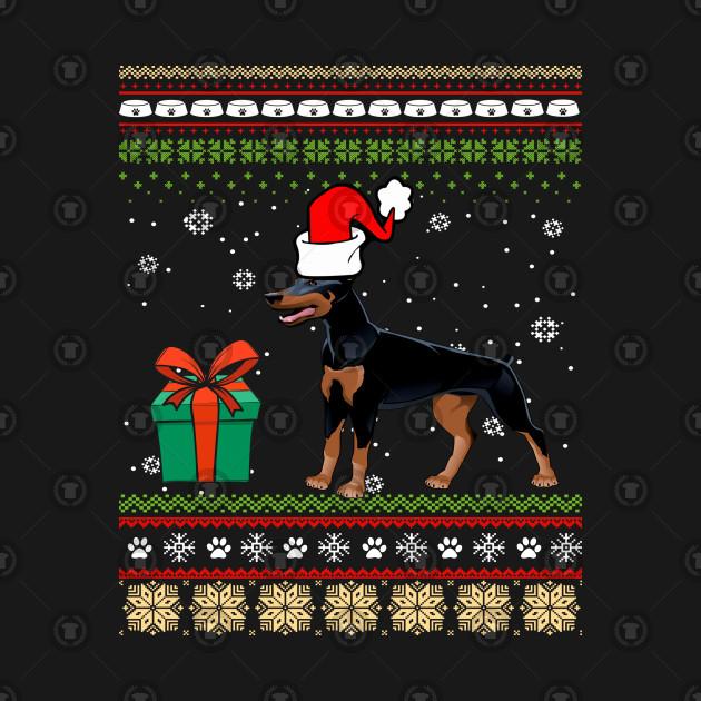 Doberman Pinscher Dog Ugly Christmas Sweater Christmas T Shirt