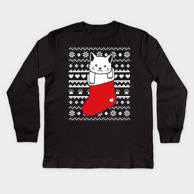 Ugly Christmas Sweater Cat.Cat Ugly Christmas Sweater Cat In Stocking Ugly Christmas