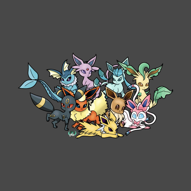 Chibi Eeveelutions - Pokemon - T-Shirt | TeePublic