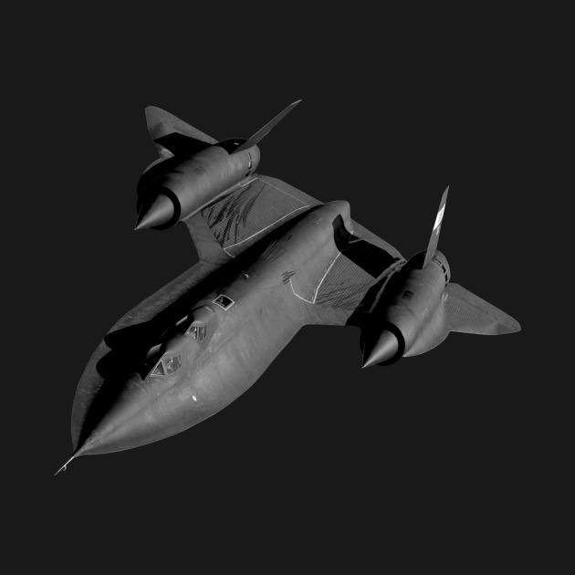 SR-71B Blackbird Flying