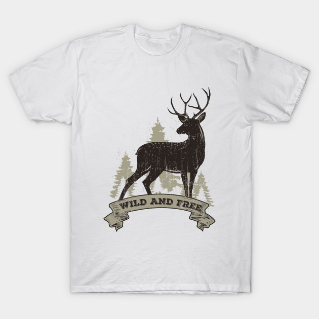 Buck Series: Wild and Free Vintage Style T-Shirt