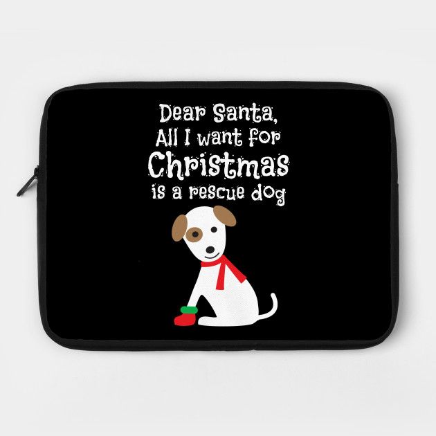 Rescue Dog for Christmas Dog Lover Gift