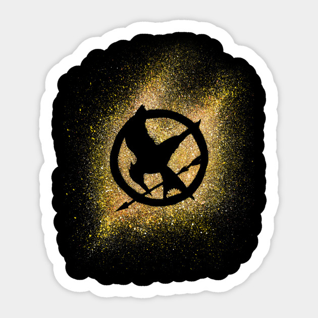 Catching Fire The Hunger Games Sticker Teepublic