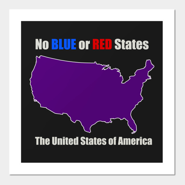 Electoral Map United States Unity Red And Blue States Make Purple