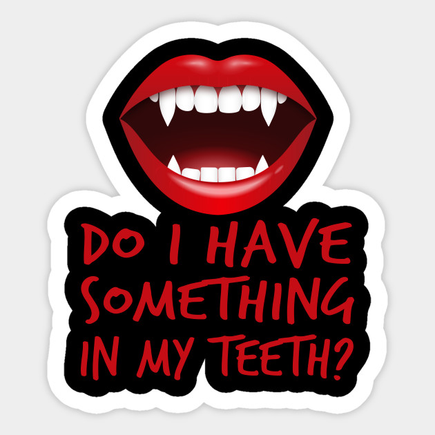 Halloween Vampire Fangs Clipart.Vampire Do I Have Something In My Teeth Halloween Costume