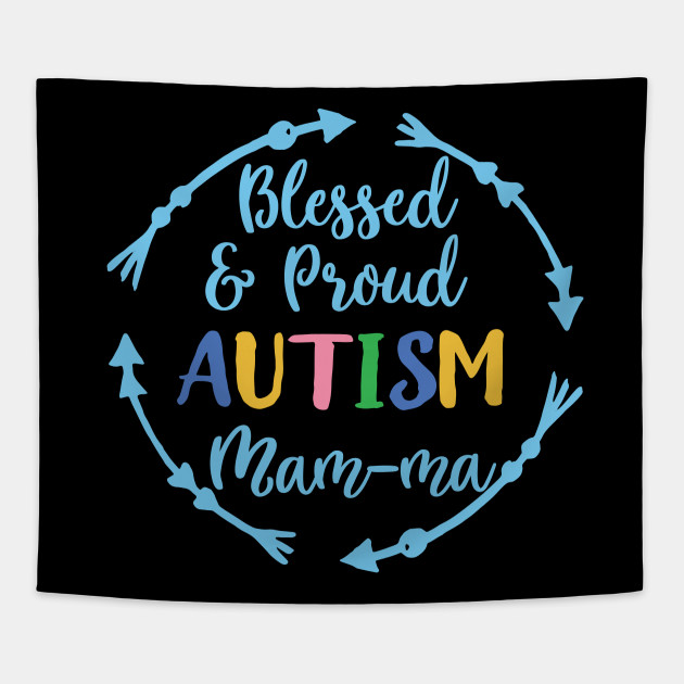 Blessed and Proud Autism Mam Ma Awareness T shirt
