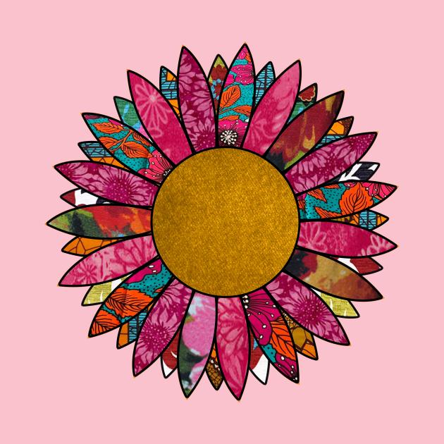 Pretty in Pink Retro Flower