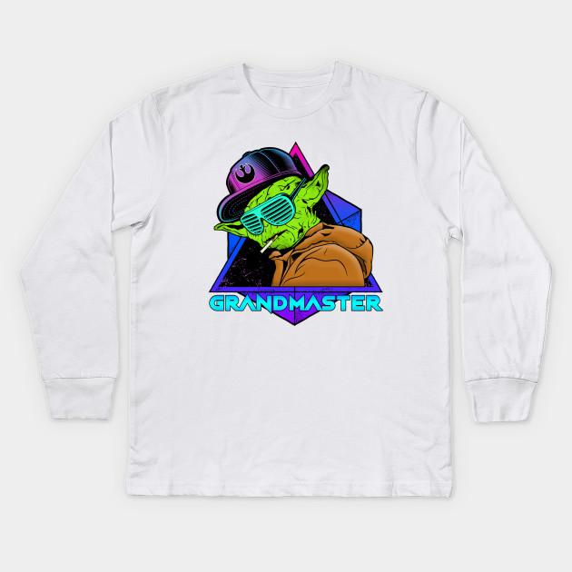 3baf4cdc RECKLESS GRANDMASTER JEDI - Yoda - Kids Long Sleeve T-Shirt | TeePublic