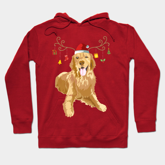 Best Golden Retriever Mom Ever Ugly Christmas Sweater Style Adult Hoodie