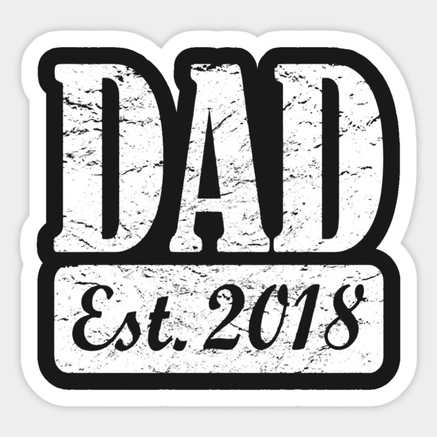 Mens Dad Established 2018 T-Shirt New Father Christmas Gift - Ugly ...