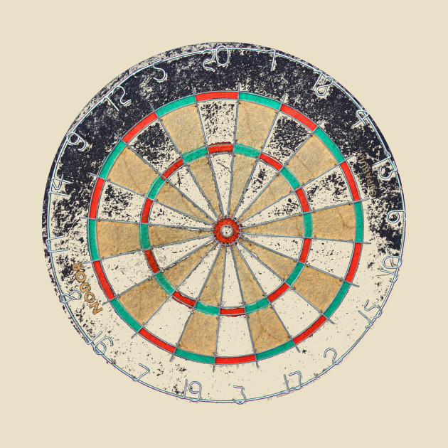 Distressed dartboard