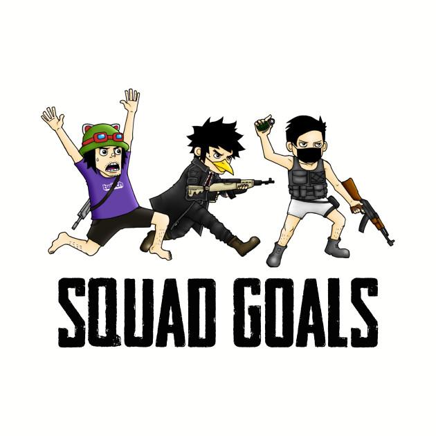 pubg squad goals fortnite gaming playerunknowns battlegrounds t shirt teepublic - fortnite squad goals clipart