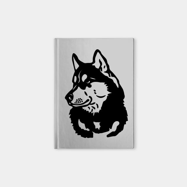 Husky Outline Husky Notebook Teepublic