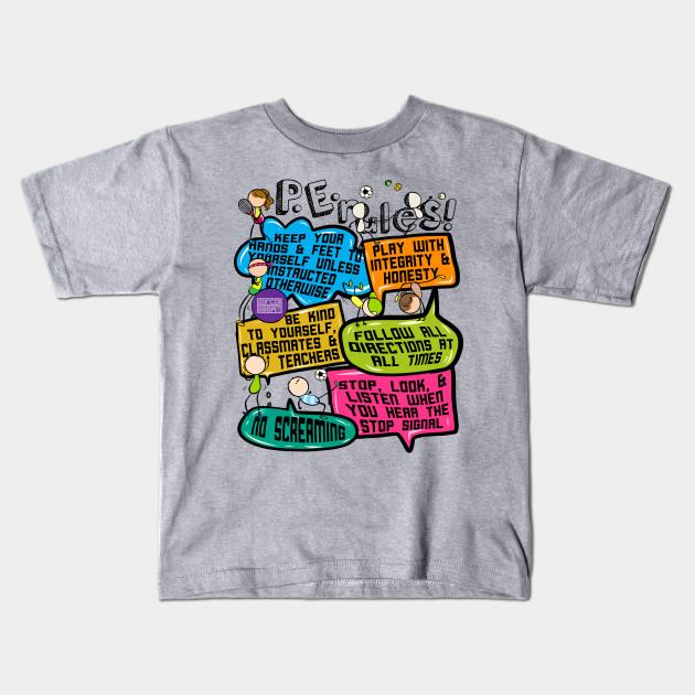 26041fe0 Funny Colorful Doodle Physical Education P.E. Rules - Pe Rules ...