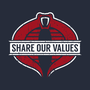 Our Values t-shirts