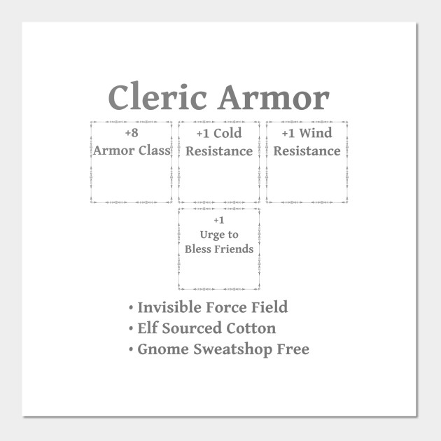 Cleric Armor: Role Playing DND 5e Pathfinder RPG Tabletop RNG by rayrayray90