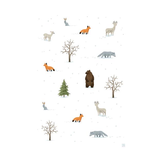 Winter Forest Animals