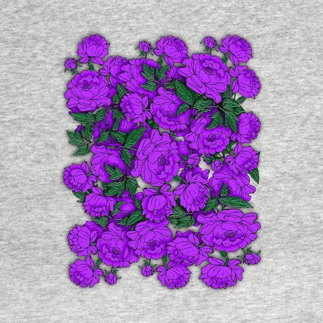 Purple peonies flowers kids hoodie teepublic 1723808 1 mightylinksfo