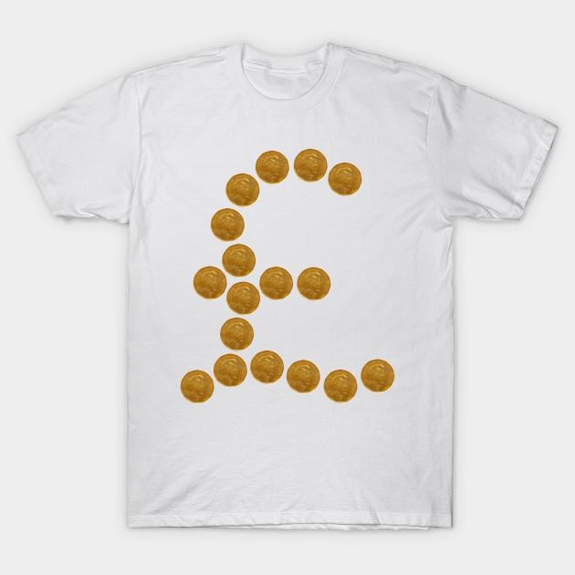 British Pound Sign Symbol Pounds T Shirt Teepublic
