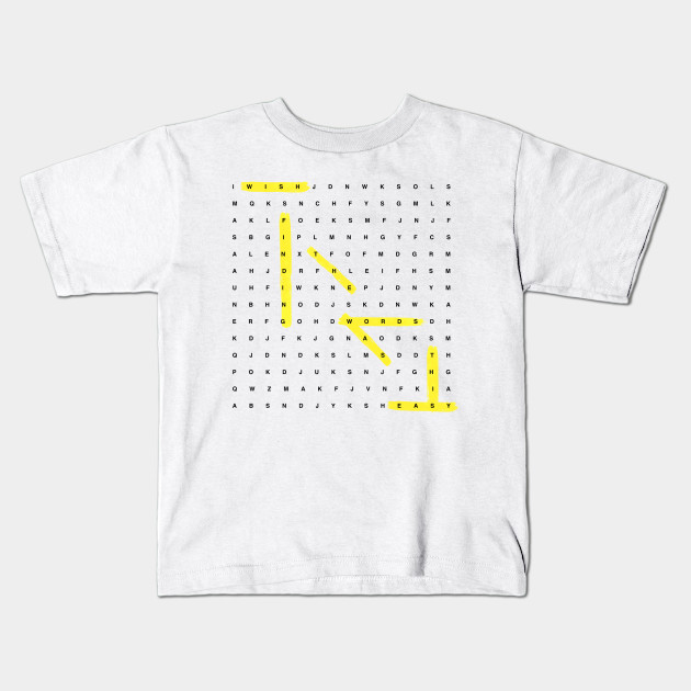 84423bf32 Word Search - Puzzle - Kids T-Shirt   TeePublic