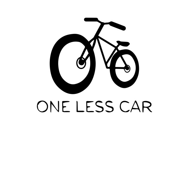 One Less Car I Love Bikes Go Green Cycling Bicycle One T Shirt