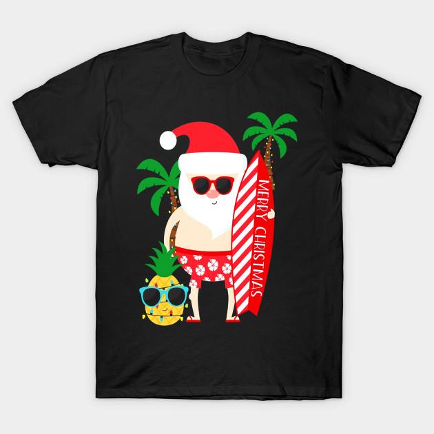 b1794a1e435 Santa Claus Surfing Hawaiian Shirt Summer Christmas - Santa Claus ...