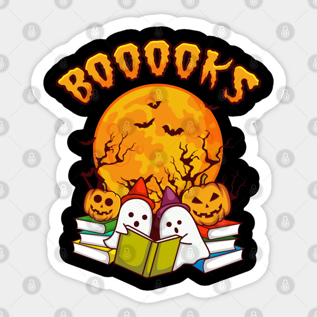 Booooks Book Gift For Halloween Costume Halloween Sticker Teepublic