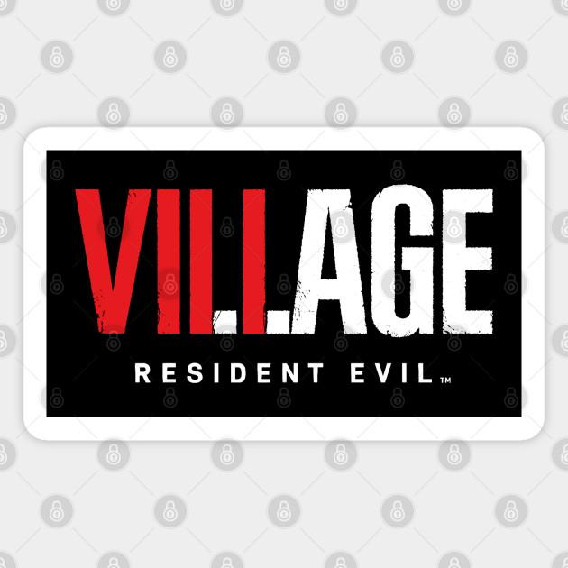 Resident Evil 8 Village Text Logo Resident Evil Village Magnet