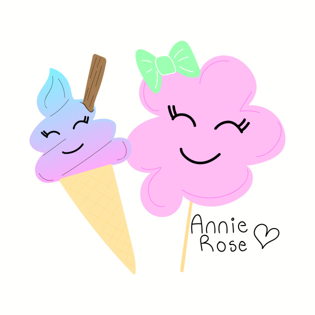 Ice cream and cotton candy