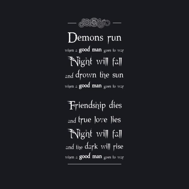 Demons run (white)
