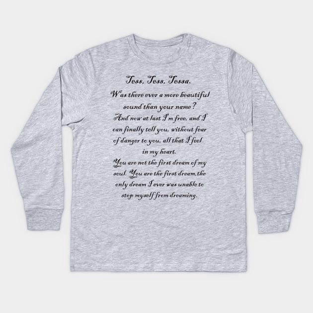 46a04f3d7 Tess, Tess, Tessa - Clockwork Prince - Kids Long Sleeve T-Shirt ...