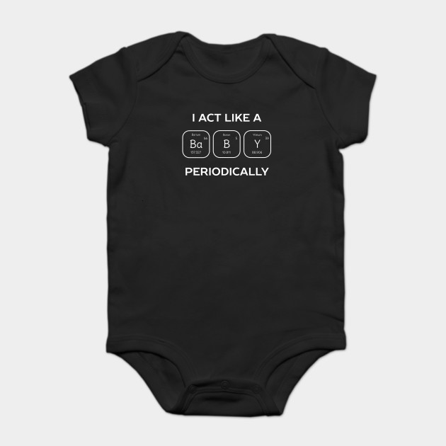Periodic Table Baby Science T Shirt Periodic Table Onesie