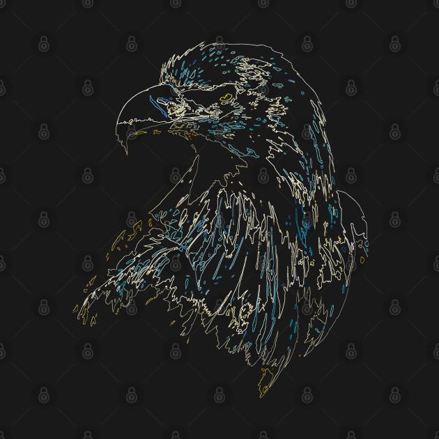 eagle, colored eagle