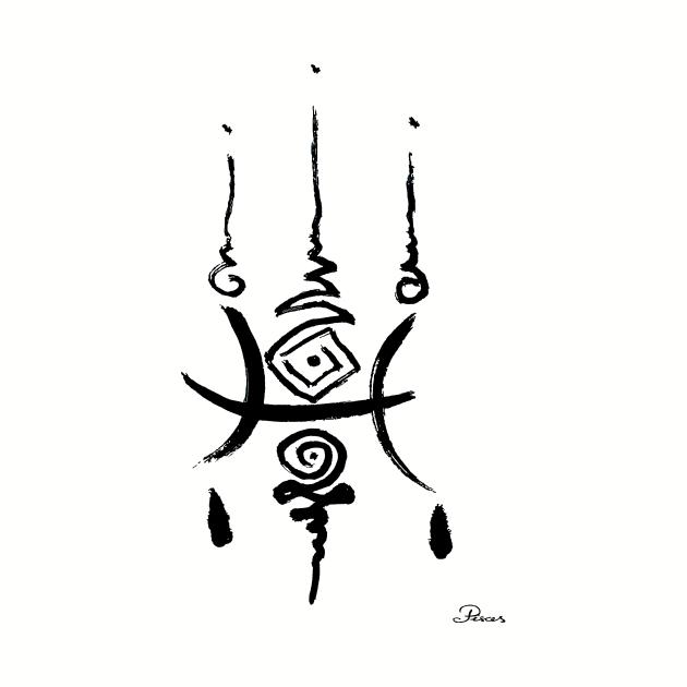Unique Pisces Zodiac Unalome Birthday Minimalistic Distressed Zen Elegant Goth