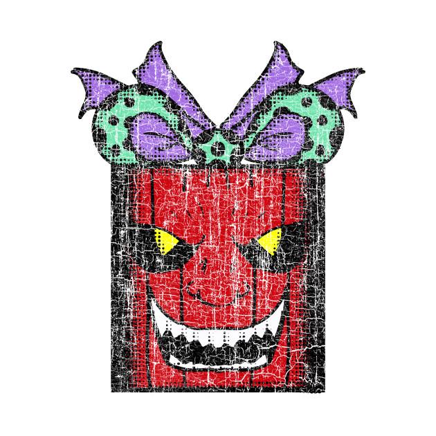 Evil Christmas.Vintage Evil Christmas Gift 1