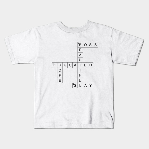 ad5b82808 adj&v Women's Crossword Puzzle - Crossword - Kids T-Shirt   TeePublic