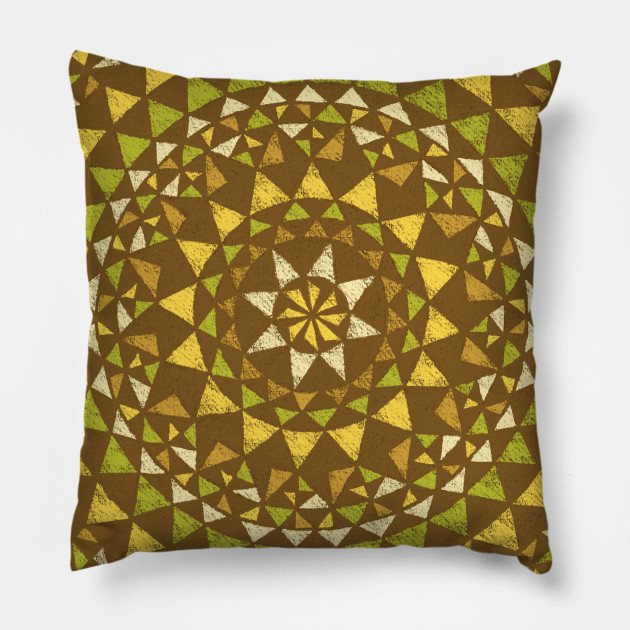 Polynesian Geometric Tribal Tattoo (retro brown) - Hawaiian - Pillow ...