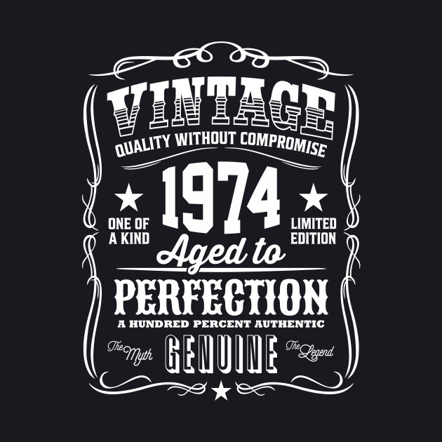 Vintage 1974 Aged to Perfection