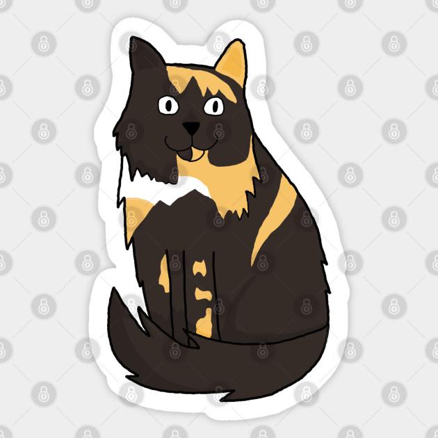 Cute Moggy Cat Cartoon Cats Sticker Teepublic