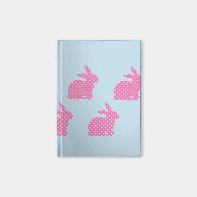 Pink Bunny Wallpaper Notebook