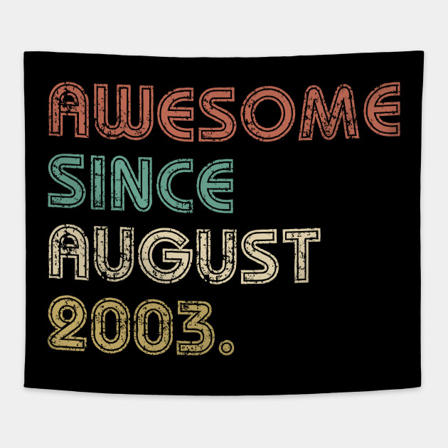 16th Birthday Shirt For Boys Girls Birthday Gift Ideas For 16 Years Old Awesome Since 2003 Shirt