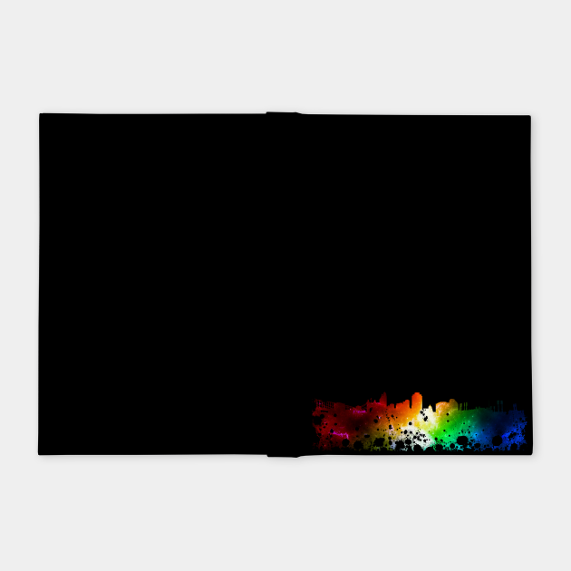 City colorful silhouette - Skyline - Cityscape - Gift idea