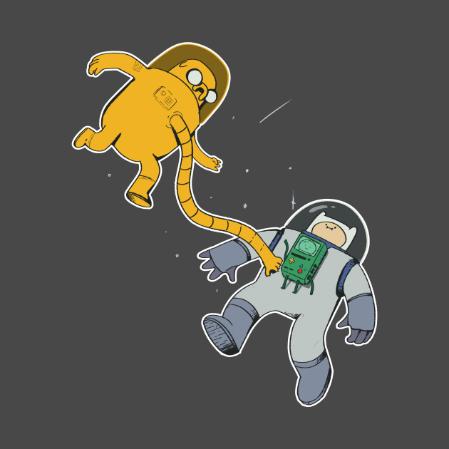 "Adventure Time in space ""transparent"""
