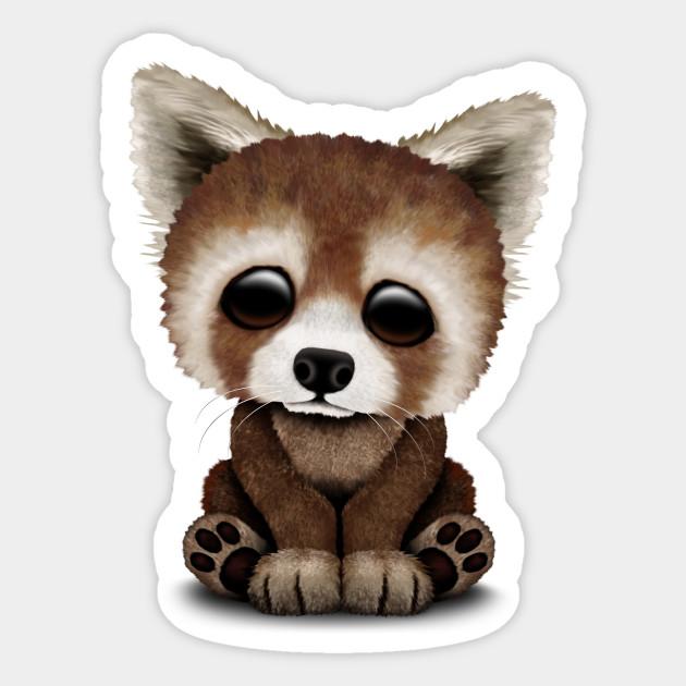 Cute Baby Red Panda Red Panda Sticker Teepublic