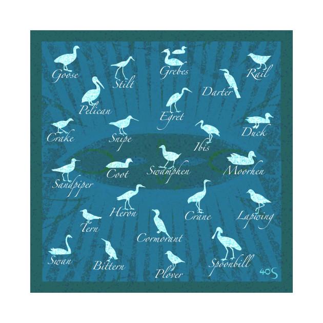Shorebirds - Blue